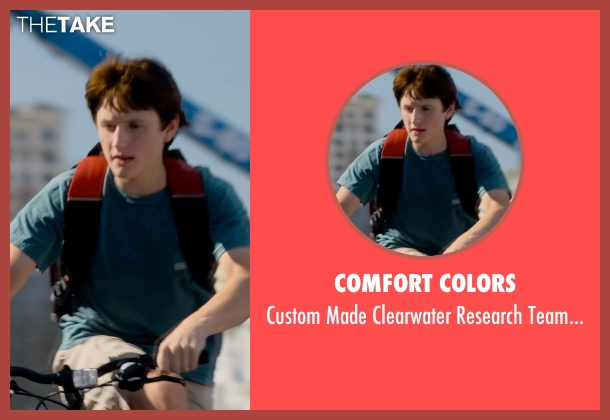Comfort Colors green shirt from Dolphin Tale 2 seen with Nathan Gamble (Sawyer Nelson)