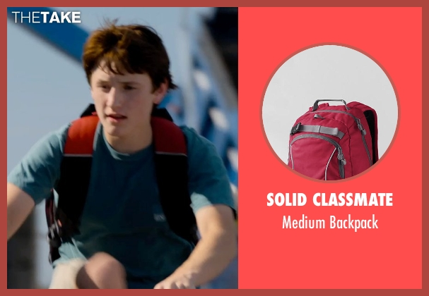 Solid ClassMate red backpack from Dolphin Tale 2 seen with Nathan Gamble (Sawyer Nelson)