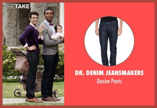 Dr. Denim Jeansmakers blue pants from Neighbors seen with Nathan Mohebbi (Neighbor)