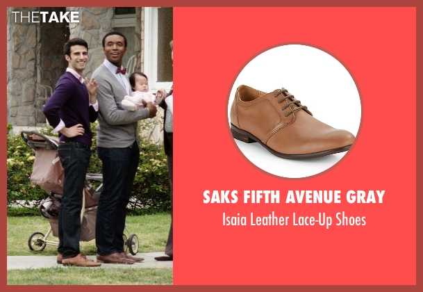 Saks Fifth Avenue Gray brown shoes from Neighbors seen with Nathan Mohebbi (Neighbor)