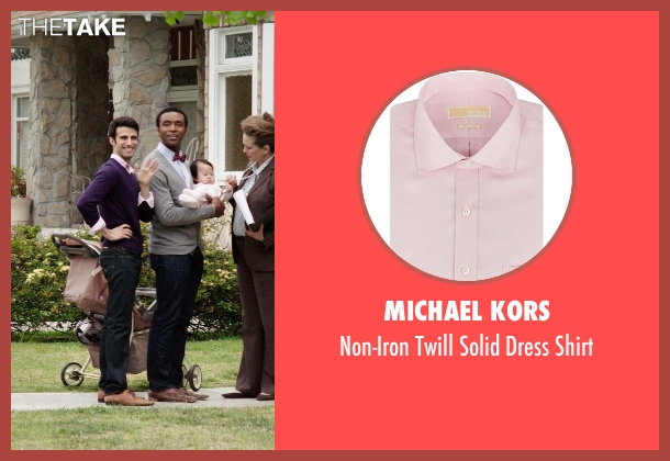 Michael Kors pink shirt from Neighbors seen with Nathan Mohebbi (Neighbor)
