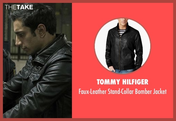 Tommy Hilfiger black jacket from The Night Of seen with Naz Khan (Riz Ahmed)