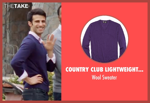 Country Club Lightweight Saxxon purple sweater from Neighbors