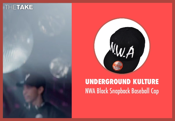 Underground Kulture black cap from Straight Outta Compton seen with Neil Brown Jr. (Dj Yella)