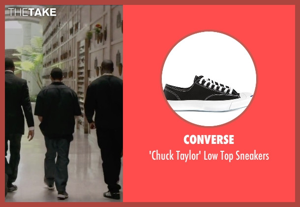 Converse black sneakers from Straight Outta Compton seen with Neil Brown Jr. (Dj Yella)