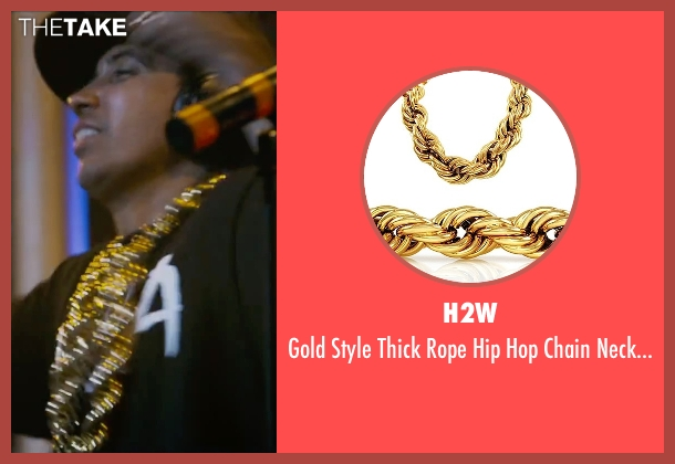 H2W gold necklace from Straight Outta Compton seen with Neil Brown Jr. (Dj Yella)