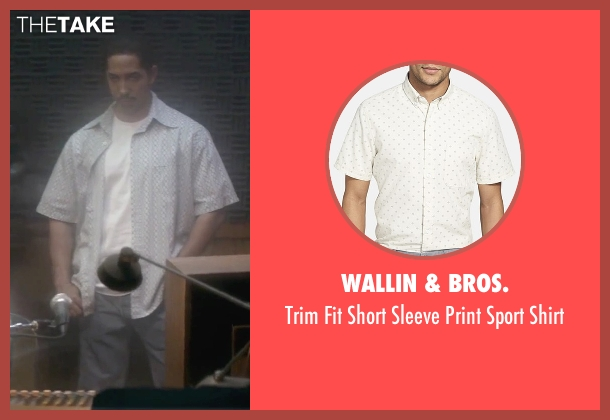 Wallin & Bros. white shirt from Straight Outta Compton seen with Neil Brown Jr. (Dj Yella)