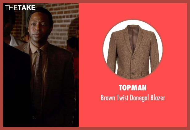 Topman brown blazer from Get On Up seen with Nelsan Ellis (Bobby Byrd)