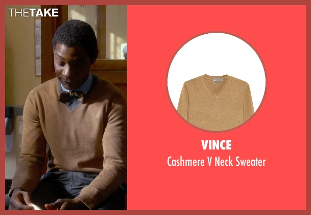 Vince brown sweater from Get On Up seen with Nelsan Ellis (Bobby Byrd)
