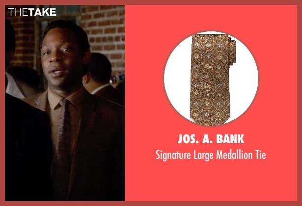 JoS. A. Bank brown tie from Get On Up seen with Nelsan Ellis (Bobby Byrd)