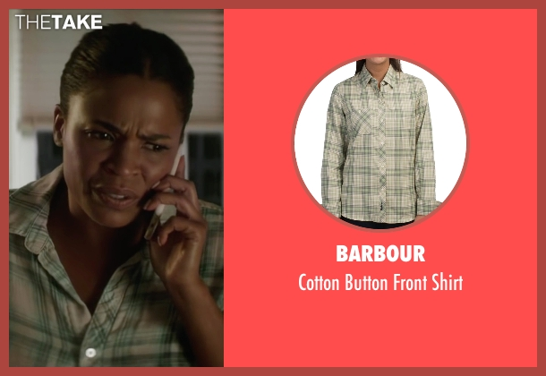 Barbour green shirt from Keanu seen with Nia Long (Hannah)