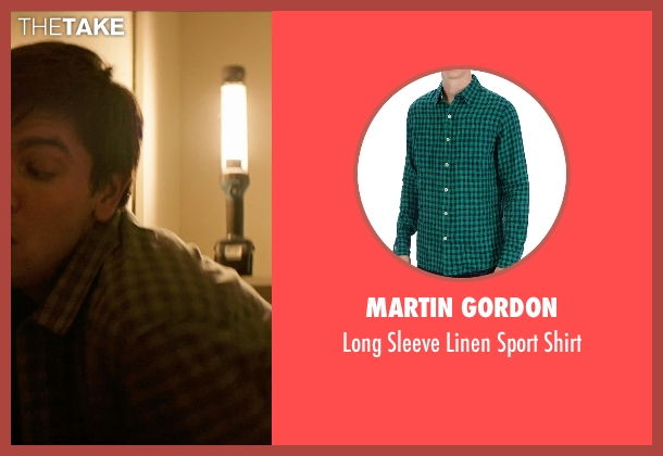 Martin Gordon green shirt from Poltergeist seen with Nicholas Braun (Boyd)