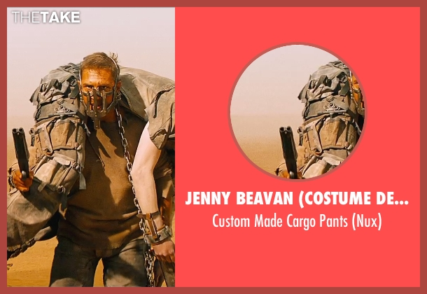 Jenny Beavan (Costume Designer) brown pants from Mad Max: Fury Road seen with Nicholas Hoult (Nux)