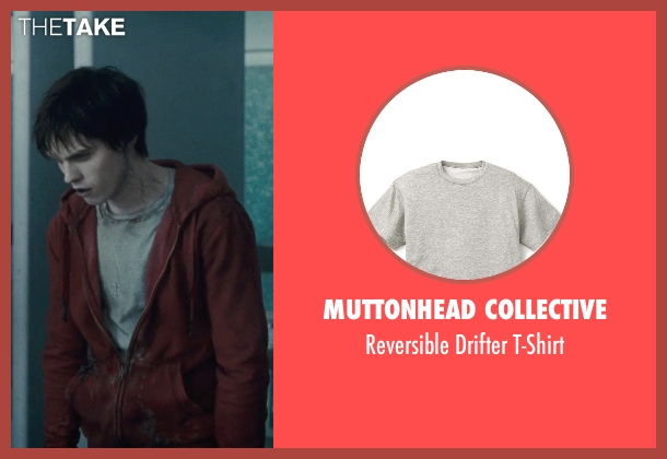 Muttonhead Collective gray t-shirt from Warm Bodies seen with Nicholas Hoult ('R')