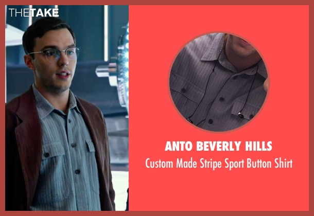 Anto Beverly Hills blue shirt from X-Men: Apocalypse seen with Nicholas Hoult (Hank McCoy / Beast)