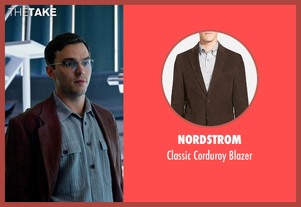 Nordstrom brown blazer from X-Men: Apocalypse seen with Nicholas Hoult (Hank McCoy / Beast)