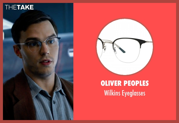 Oliver Peoples eyeglasses from X-Men: Apocalypse seen with Nicholas Hoult (Hank McCoy / Beast)