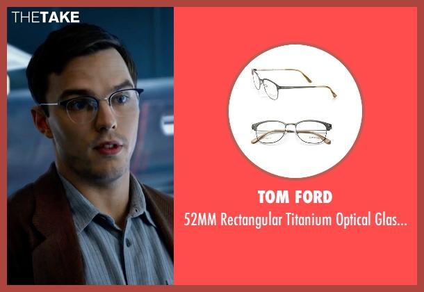Tom Ford eyeglasses from X-Men: Apocalypse seen with Nicholas Hoult (Hank McCoy / Beast)