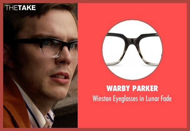 Warby Parker black fade from X-Men: Days of Future Past seen with Nicholas Hoult (Hank McCoy / Beast)