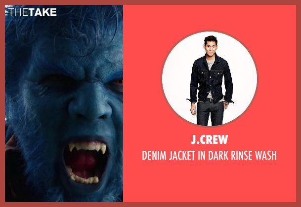 J.Crew blue wash from X-Men: Days of Future Past seen with Nicholas Hoult (Hank McCoy / Beast)