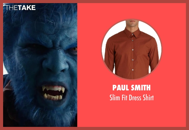 PAUL SMITH brown shirt from X-Men: Days of Future Past seen with Nicholas Hoult (Hank McCoy / Beast)