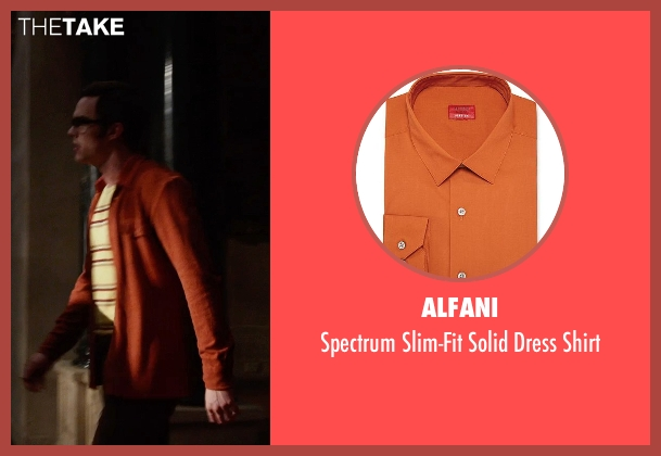 Alfani orange shirt from X-Men: Days of Future Past seen with Nicholas Hoult (Hank McCoy / Beast)