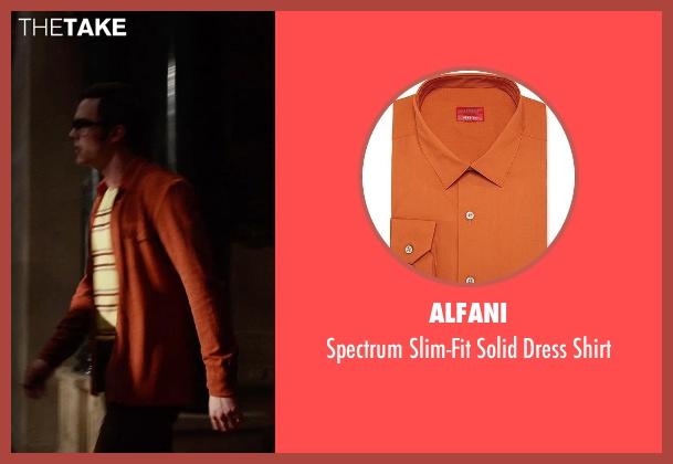 Alfani orange shirt from X-Men: Days of Future Past seen with Nicholas Hoult (Hank McCoy / Beast)