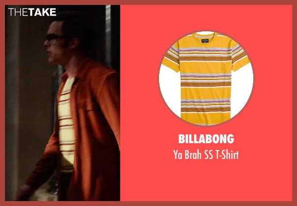 Billabong yellow t-shirt from X-Men: Days of Future Past seen with Nicholas Hoult (Hank McCoy / Beast)