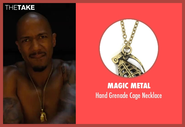 Magic Metal gold necklace from Chi-Raq seen with Nick Cannon (Chi-Raq)