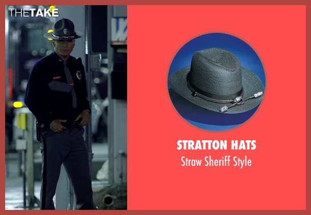 Stratton Hats gray style from Need for Speed seen with Nick Chinlund (Officer Lejeune)