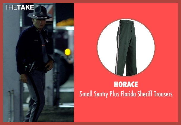 Horace gray trousers from Need for Speed seen with Nick Chinlund (Officer Lejeune)