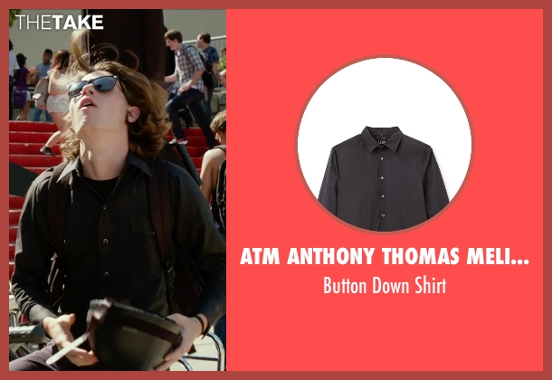 ATM Anthony Thomas Melillo black shirt from The DUFF seen with Nick Eversman (Toby)