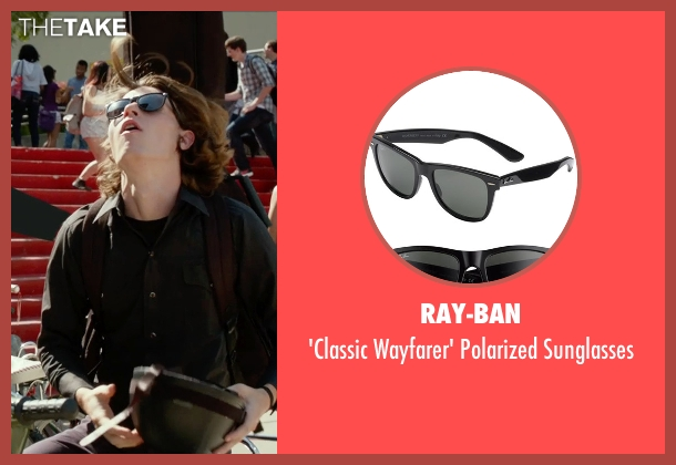 Ray-Ban black sunglasses from The DUFF seen with Nick Eversman (Toby)