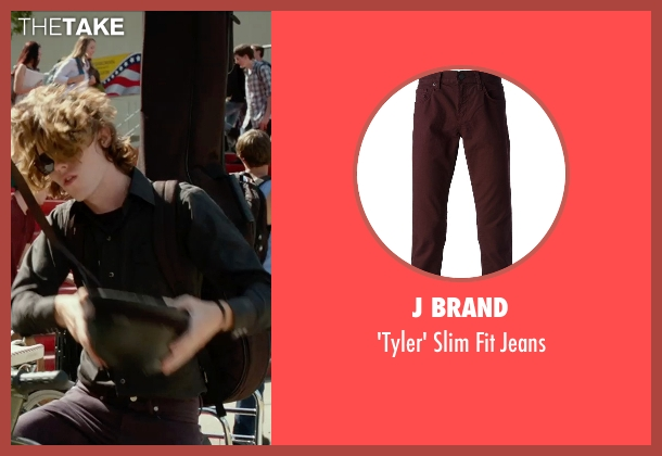 J Brand red jeans from The DUFF seen with Nick Eversman (Toby)
