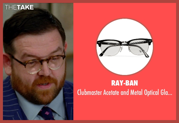 Ray-Ban black glasses from Unfinished Business seen with Nick Frost  (Bill Whilmsley)