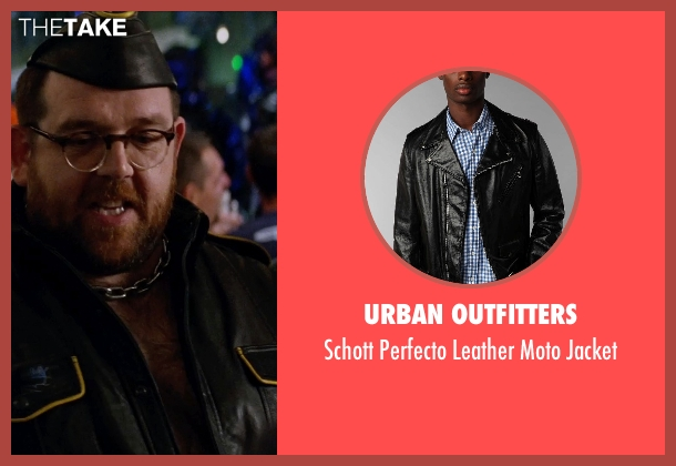 Urban Outfitters black jacket from Unfinished Business seen with Nick Frost  (Bill Whilmsley)