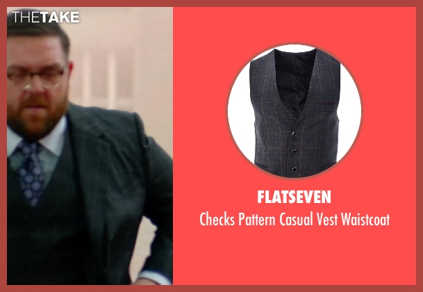 Flatseven black waistcoat from Unfinished Business seen with Nick Frost  (Bill Whilmsley)