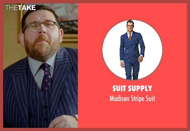 Suit Supply blue suit from Unfinished Business seen with Nick Frost  (Bill Whilmsley)