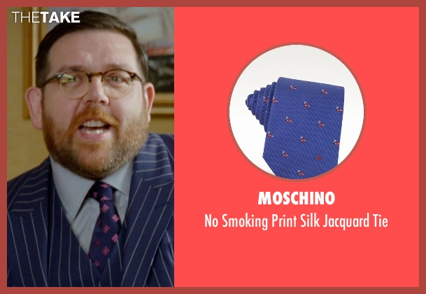 Moschino blue tie from Unfinished Business seen with Nick Frost  (Bill Whilmsley)