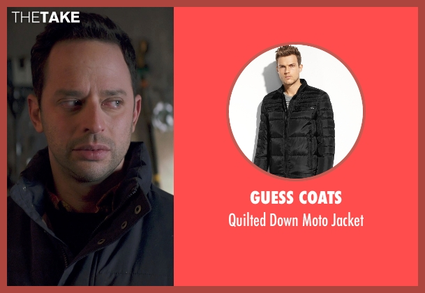 Guess Coats black jacket from Adult Beginners seen with Nick Kroll (Jake)
