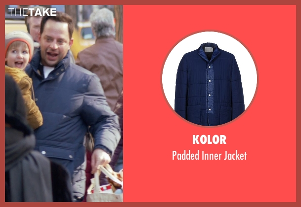 Kolor blue jacket from Adult Beginners seen with Nick Kroll (Jake)