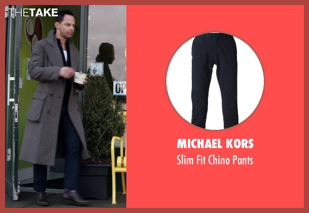 Michael Kors blue pants from Adult Beginners seen with Nick Kroll (Jake)