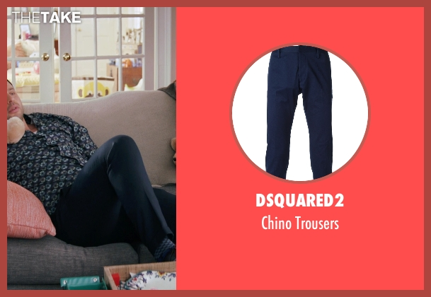Dsquared2 blue trousers from Adult Beginners seen with Nick Kroll (Jake)