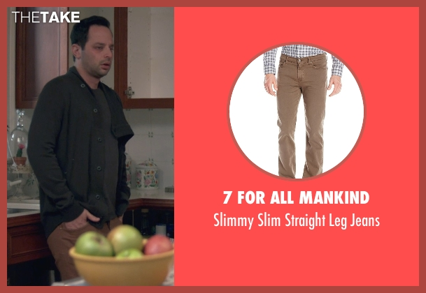 7 For All Mankind brown jeans from Adult Beginners seen with Nick Kroll (Jake)