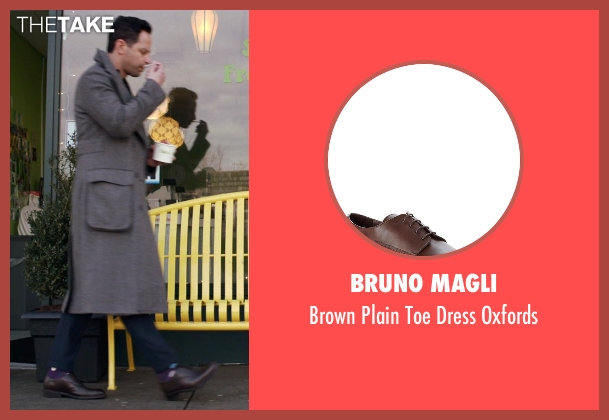 Bruno Magli brown oxfords from Adult Beginners seen with Nick Kroll (Jake)