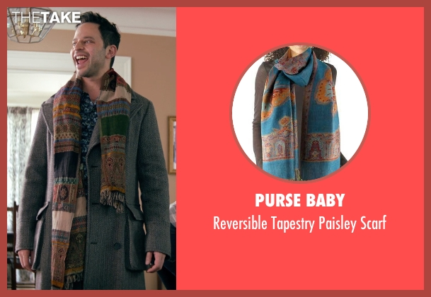 Purse Baby brown scarf from Adult Beginners seen with Nick Kroll (Jake)