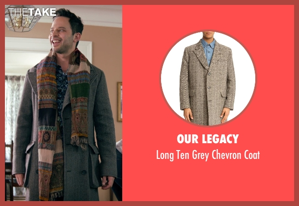 Our Legacy gray coat from Adult Beginners seen with Nick Kroll (Jake)