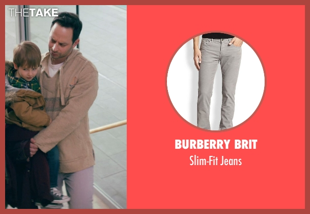 Burberry Brit gray jeans from Adult Beginners seen with Nick Kroll (Jake)