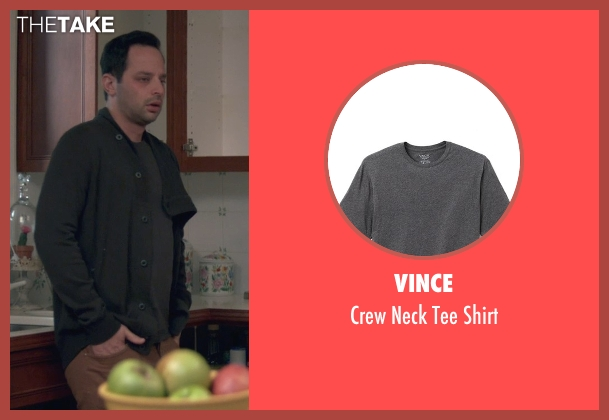 Vince gray shirt from Adult Beginners seen with Nick Kroll (Jake)