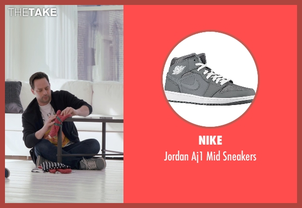 Nike gray sneakers from Adult Beginners seen with Nick Kroll (Jake)